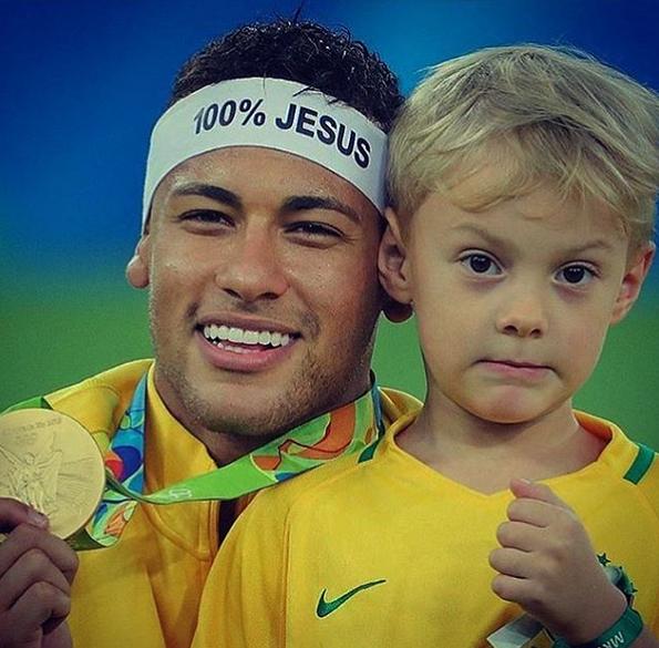 Neymar e filho Davi Lucca
