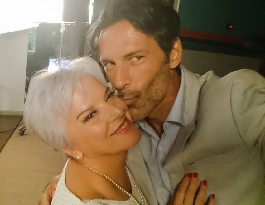 Paulo Pires assinalou a despedida com Lídia Franco. Mãe e filho na novela