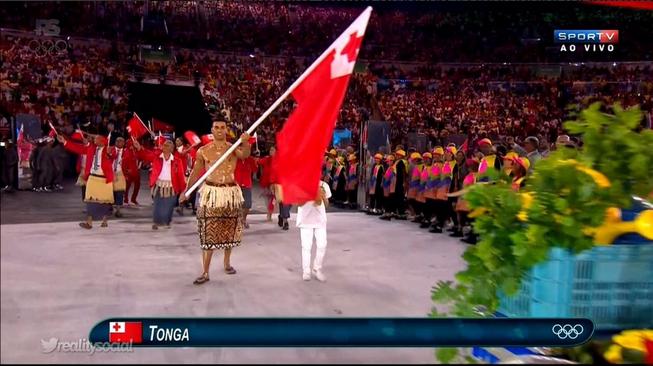 Porta-estandarte de Tonga