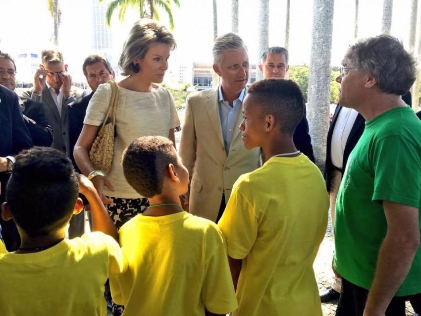 Os reis Philippe e Mathilde da Bélgica também estão na cidade do desporto