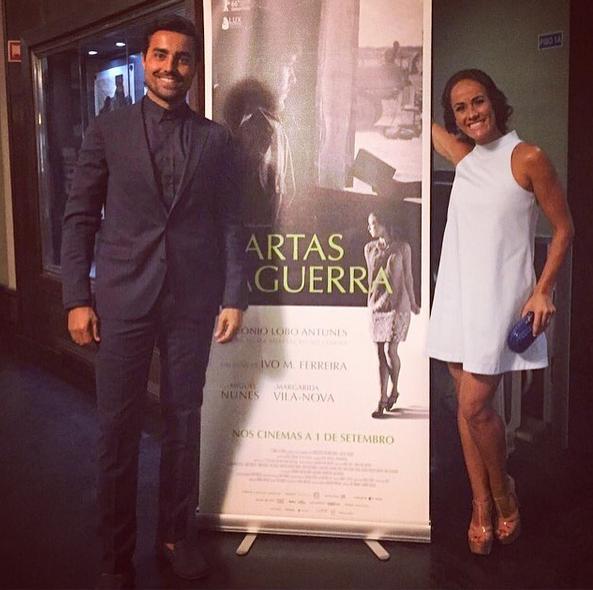 Ricardo Pereira, que também integra o elenco, com a mulher Francisca Pinto Pereira