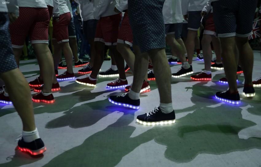 Sapatilhas com luz Seleção britânica Jogos Rio 13