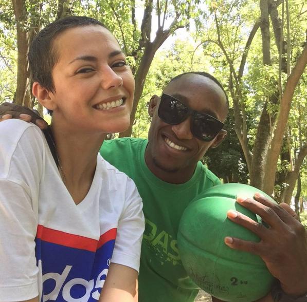 Sofia Ribeiro e treinador Igor Sanchez