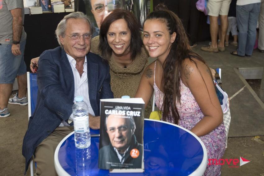 Carlos Cruz e Marta Cruz na Feira do Livro do Porto