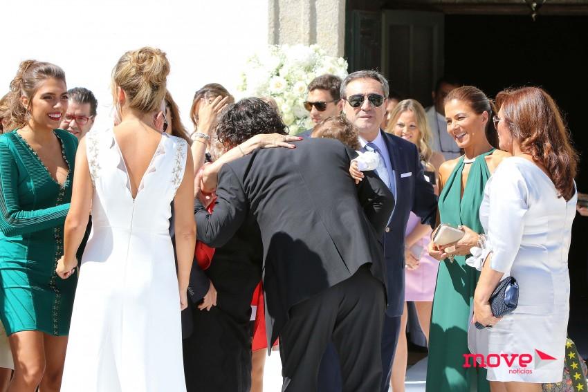Marta e Fernando Couto cumprimentam os convidados