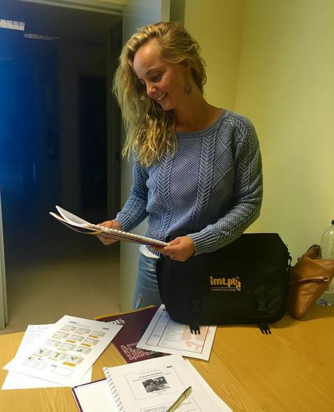 Bárbara Norton de Matos tem-se mostrado entusiasmada com o regresso à escola