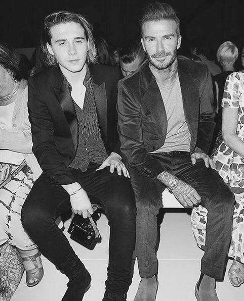 Brooklyn e David na primeira fila