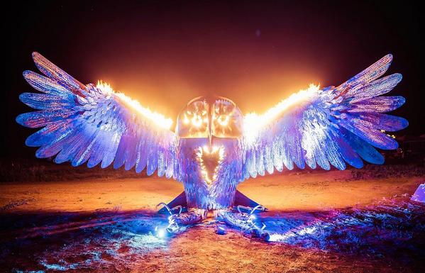 'Burning Man', homem a arder