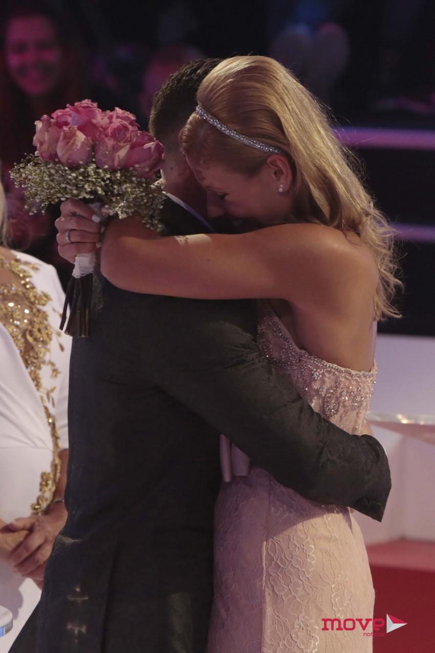 Christina e Bruno casaram em direto