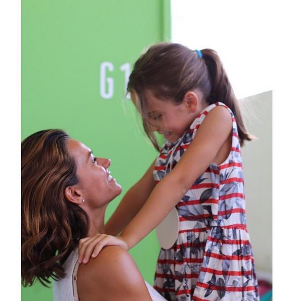 Cláudia Vieira e filha Maria