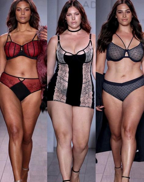 Manequins plus size mostraram as várias propostas