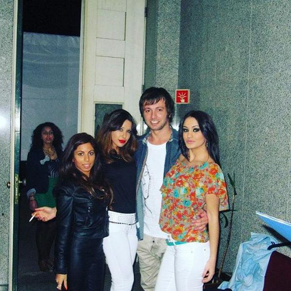 Com os antigos colegas José Miguel e Doriana (à direita). Joana (à esquerda) entrou no SS 3