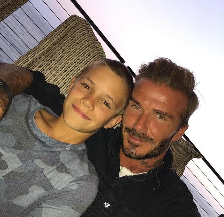 David Beckham e filho Romeo