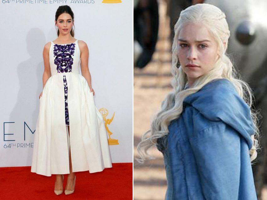 Emilia Clarke: Longe do visual de princesa-guerreira de 'Khaleesi', em 'A Guerra dos Tronos', a atriz passaria despercebida não fosse a sua já consagrada carreira e milhares de fãs por todo o muno