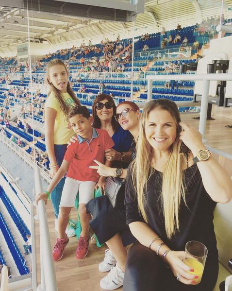 A família Aveiro esteve nas bancadas a assistir ao jogo do Real Madrid