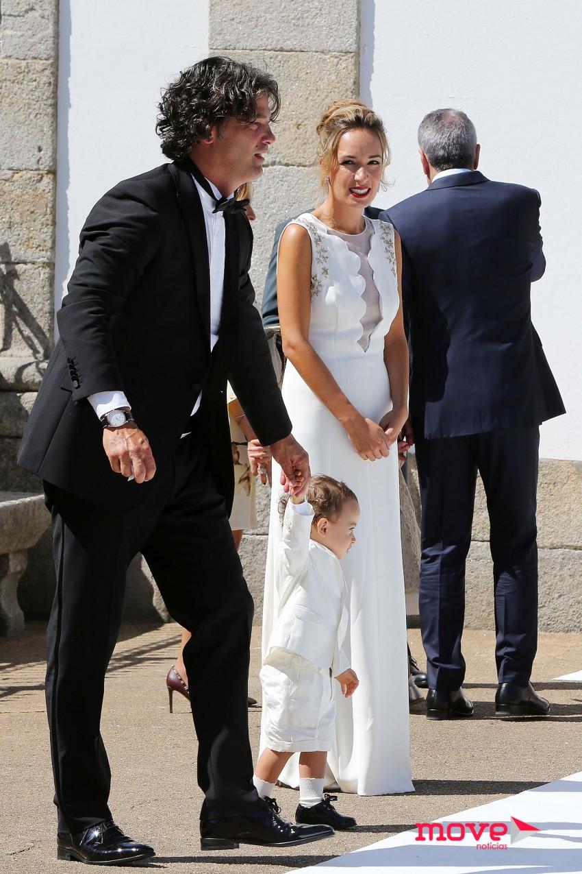 Fernando e Marta Couto com o filho Manuel