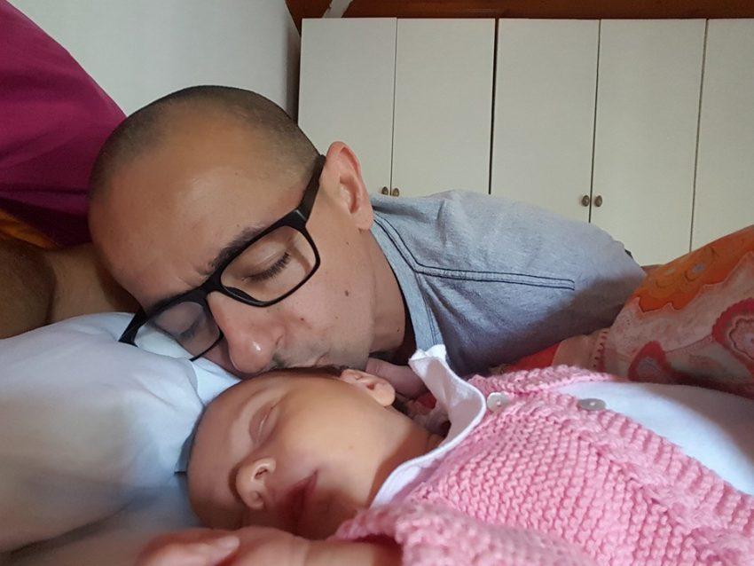 O ator com a filha Vitória