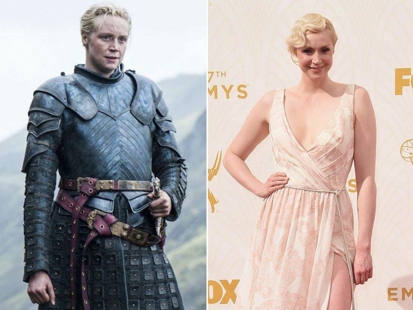 Gwendoline Christie:  Quem diria que por baixo da armadura de 'Brienne de Tarth' - na série de sucesso 'A Guerra dos Tronos' - estaria esta bela atriz? Com um vestido assinado por Giles Deacon, Gwendoline espalhou glamour na passadeira vermelha.