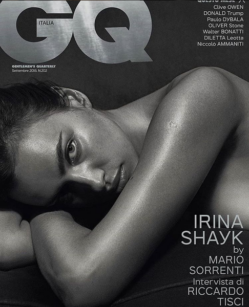 A modelo foi capa da revista