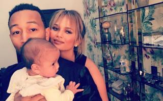 John Legend, Chrissy Teigen e a filha Luna