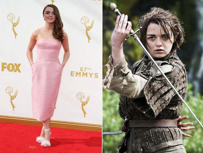 """Maisie Williams: É caso para dizer """"de patinho feio a um belo cisne"""". A atriz deslumbrou na passadeira vermelha com um modelo muito """"clean"""" bem longe da dureza da sua personagem em 'A Guerra dos Tronos'."""
