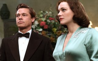 Brad Pitt e Marion Cottilard no filme 'Allied'
