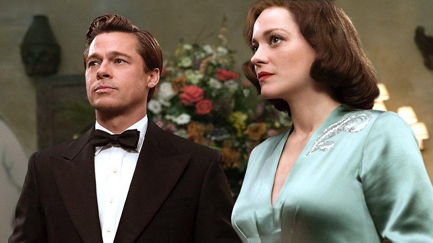 Brad Pitt e Marion Cottilard no filme 'Allied'