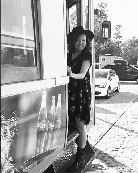 Mayra Del Pilar, co-sócia de Carbonero na empresa, encantada com a cidade do Porto