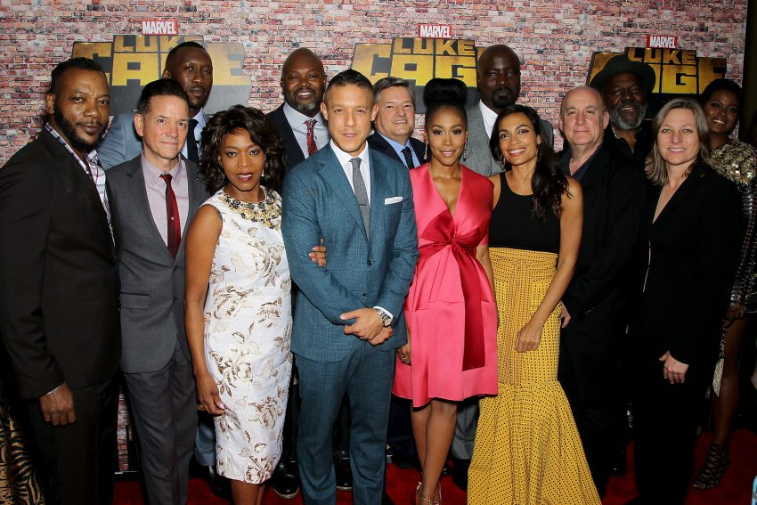 - New York, NY - 9/28/16 - Netflix Premiere of Marvel's 'Luke Cage' in Harlem.   -Pictured: The cast of 'Luke Cage' -Photo by: Marion Curtis/StarPix / for Netflix