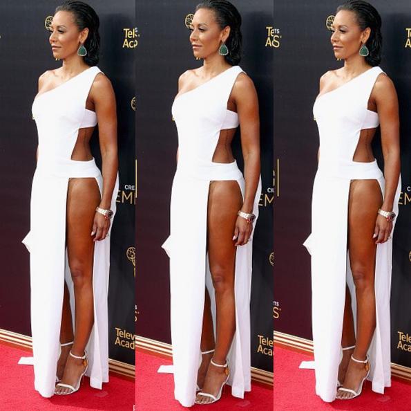 O vestido branco de Mel B