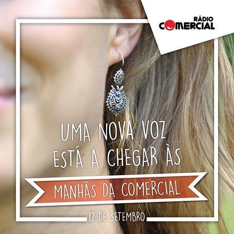 Luísa Barbosa já aparece nas promoções das 'Manhãs da Comercial'