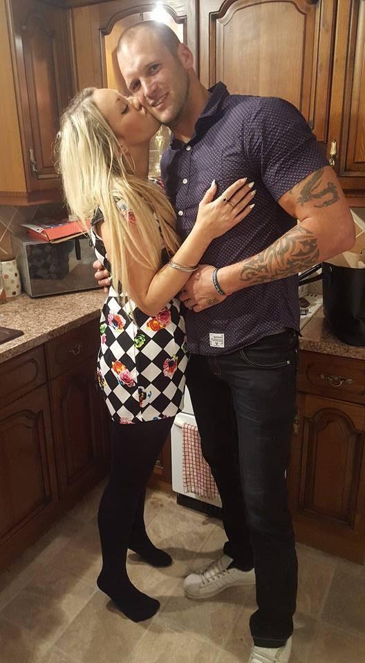 Sam Wayne com a mulher