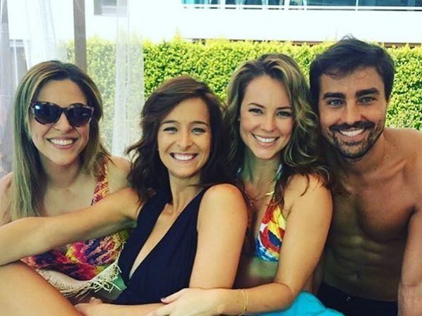 Sara Prata, Paola Oliveira e Ricardo Pereira