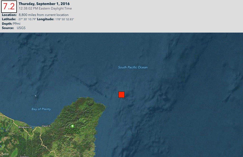 Forte sismo de magnitude 7,1 registado na Nova Zelândia