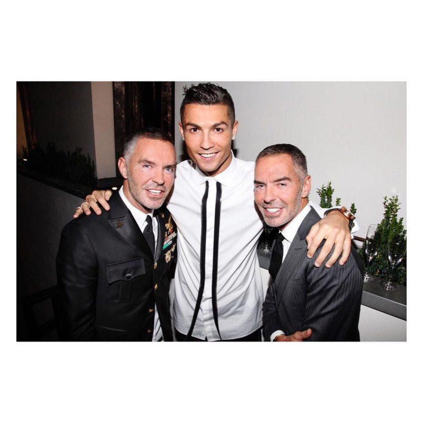 Cristiano Ronaldo com os gémeos Dean e Dan