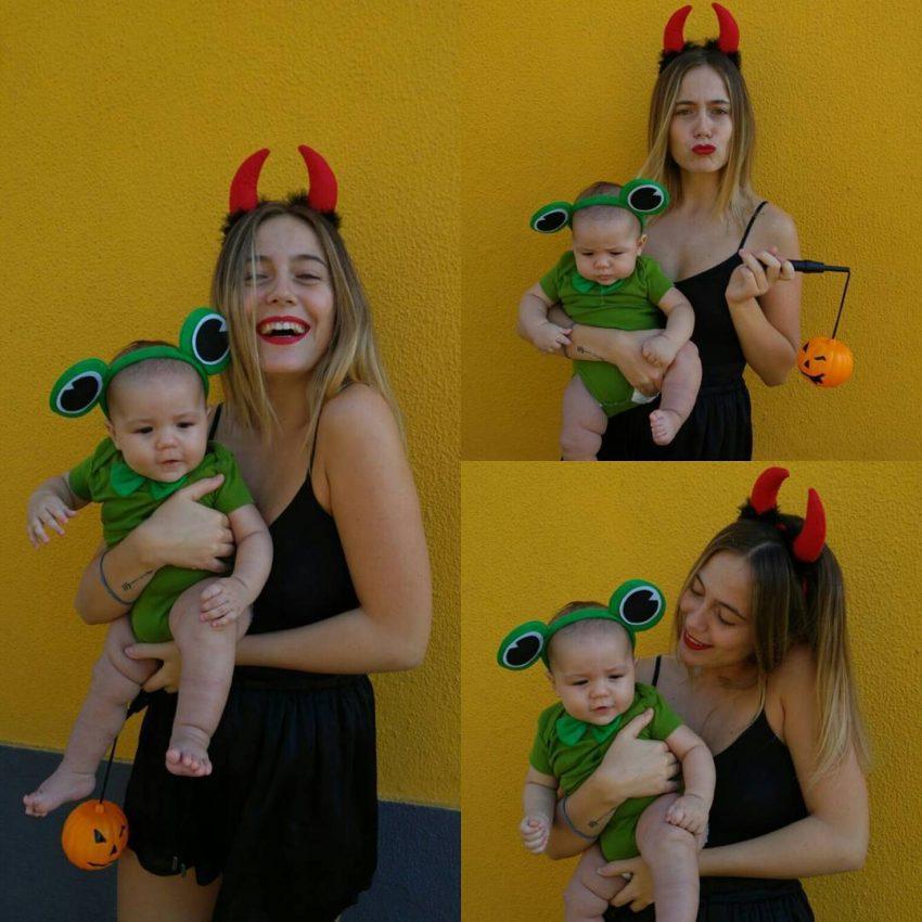 Ana Marta Ferreira usou um disfarce menos assustador para o seu bebé