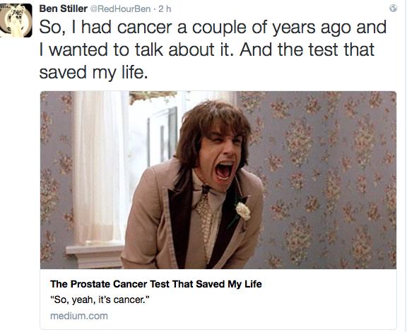Ben stiller cancro