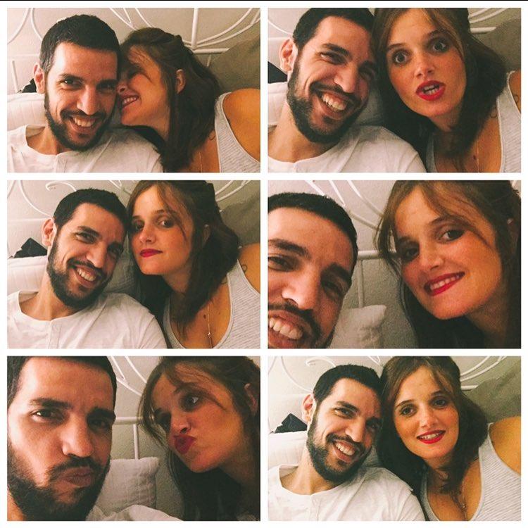 Carolina Deslandes e o namorado Diogo Clemente