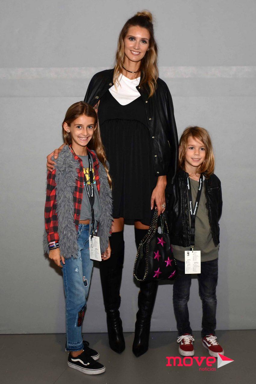Diana Pereira com os filhos Mel e Noah no último dia de Portugal Fashion