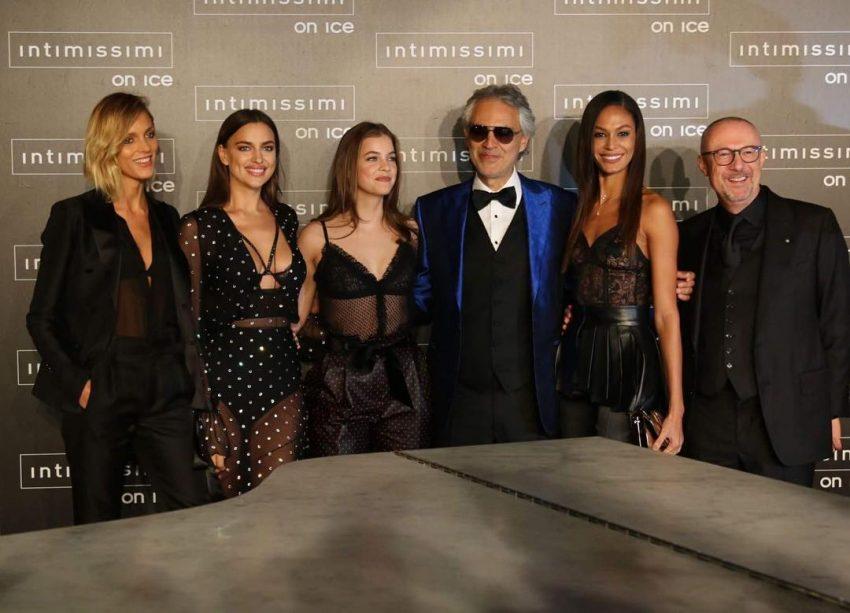 Com o cantor Andrea Bocelli