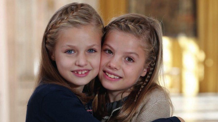 Com a irmã, Sofia