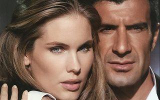 A modelo sueca e Luís Figo