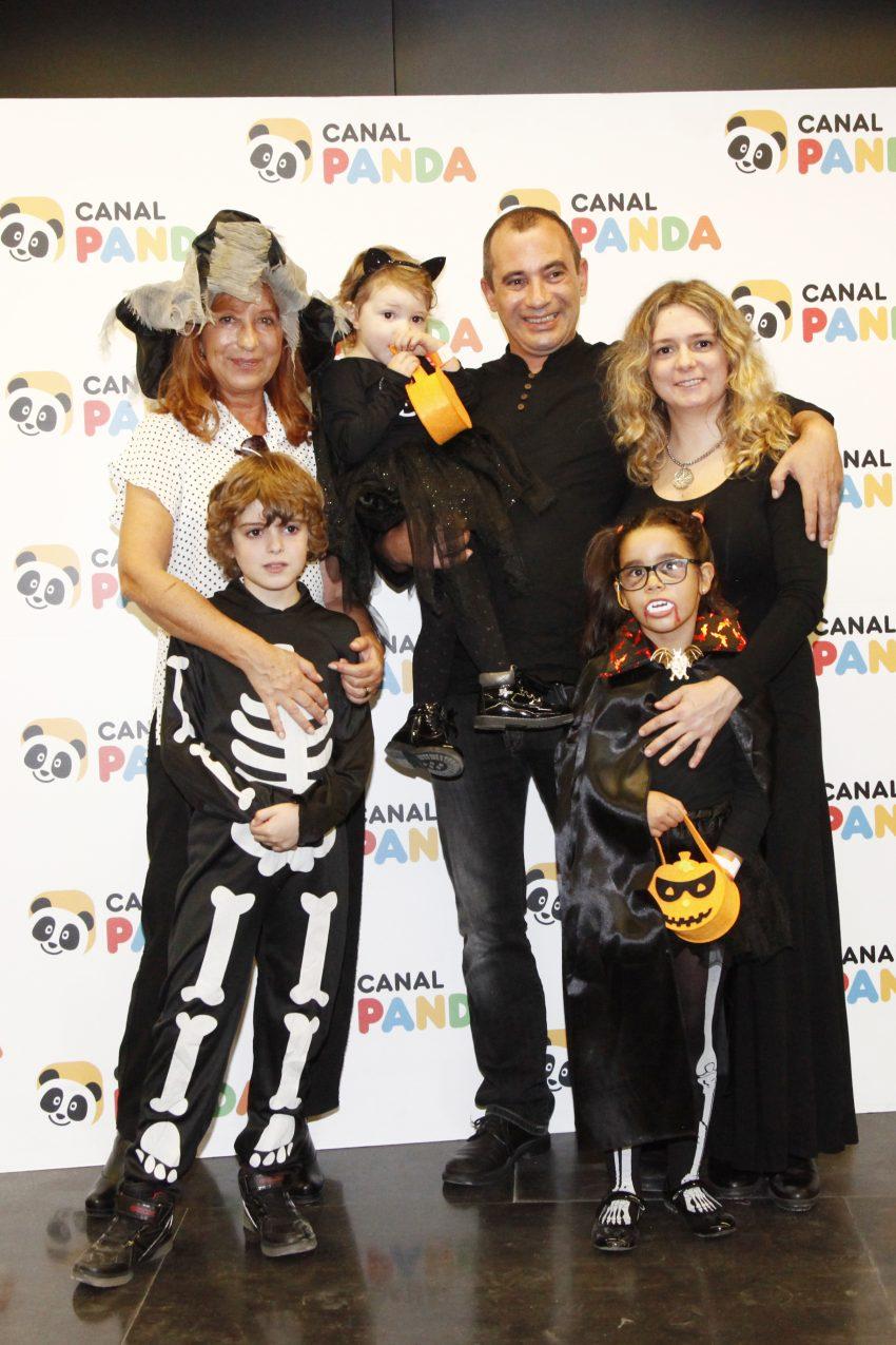 Isabel Medina e família