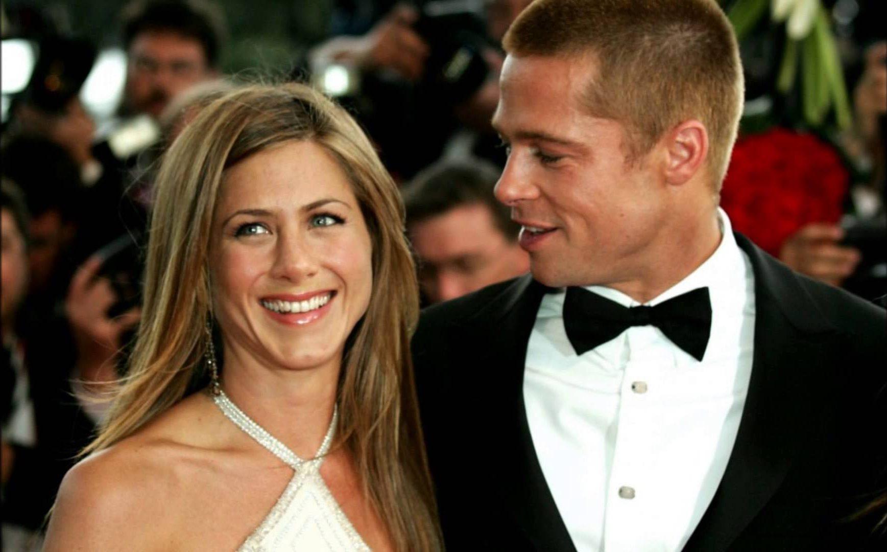 Jennifer Aniston e Brad Pitt quando ainda eram um casal
