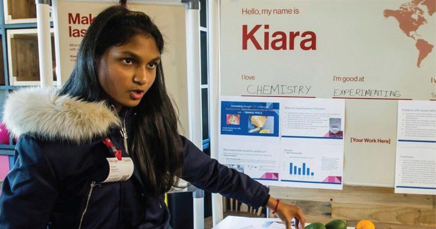 Kiara Nirghun, 16 anos, vencedora do prémio Google de Ciências