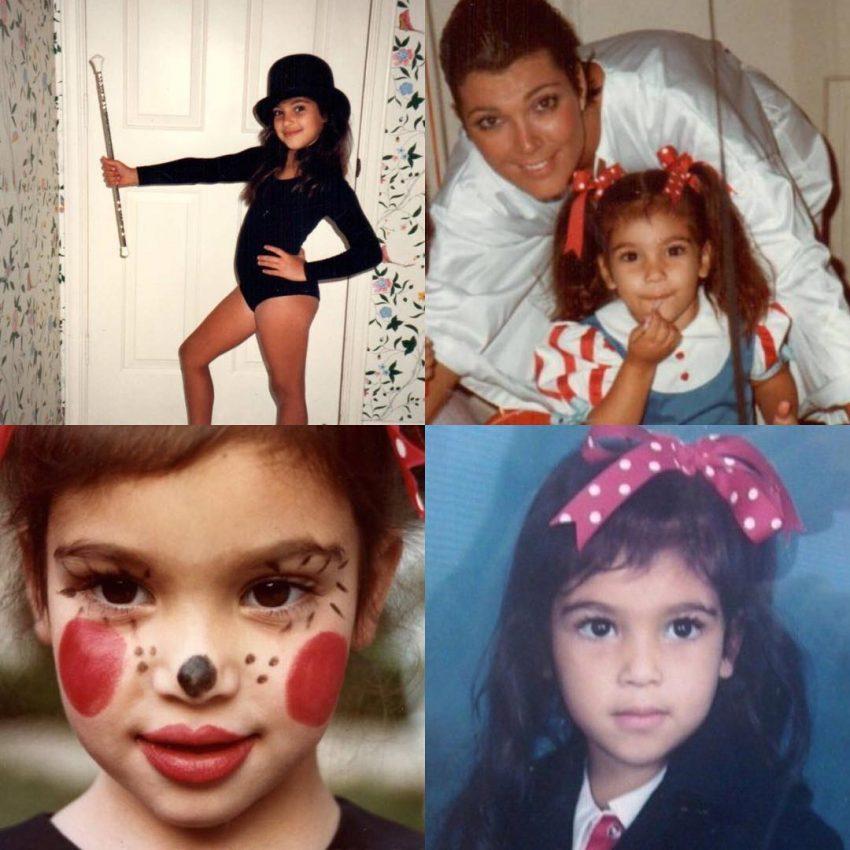 A montagem feita pela mãe, Kris Jenner