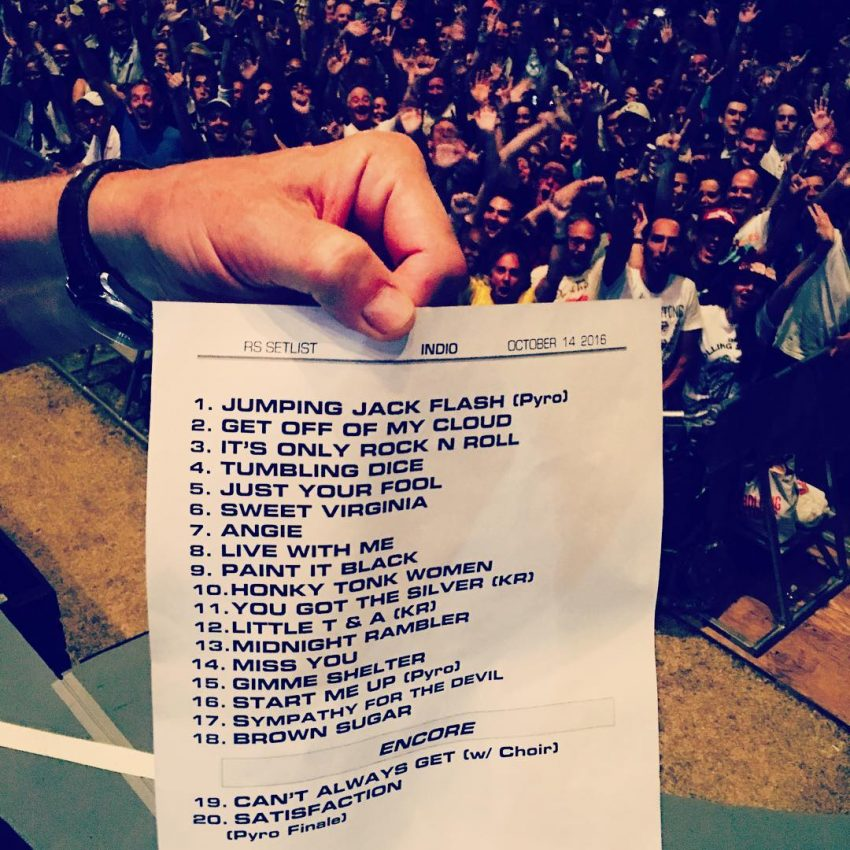 A lista de músicas do 2º concerto