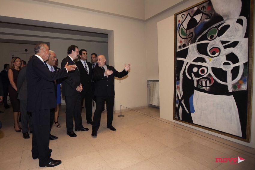 Robert Lubar Messeri fez a visita guiada aos três representantes oficiais