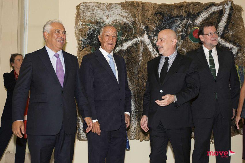 António Costa, Marcelo Rebelo de Sousa, Robert Lubar Messeri e Mariano Rajoy