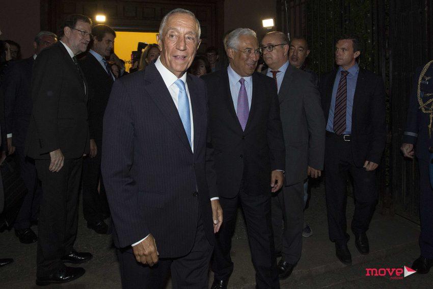 Marcelo Rebelo de Sousa e António Costa à saída da cerimónia